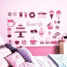 cup cake coffee art mural sticker on cupcake wall art stickers with wall decor stickers bakerkraft