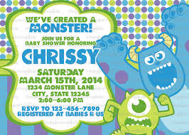Monster Inc Baby Shower Decorations Monsters Inc Baby Shower Invitation Boy Or Girl By
