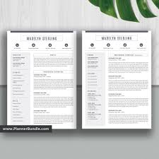 Editable Resume Template Job Cv Template Professional Word Resume Design 2019 2020 College Students Interns Fresh Graduates Professionals