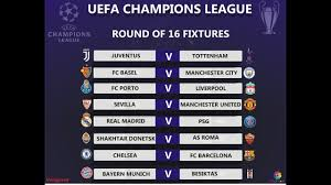 uefa champions league 2017 18 round of 16 draw result