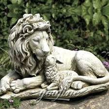 outdoor lion statue large marble lion and lamb garden statue for marble stone lion small outdoor lion statue