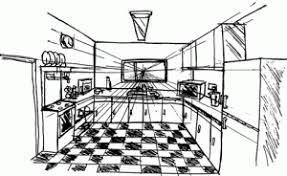 kitchen 1 point perspective. one point perspective for beginners in animation bramhaa kitchen 1