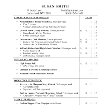 Extracurricular Activities On Resume Resume Template Amazing College