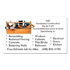 Handyman Business Cards Templates Free Home Remodeling Business Card