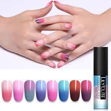 <b>LILYCUTE 5ml Thermal Color</b> Changing Gel Polish Soak Off Nail Art ...