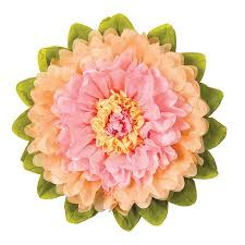 Large Tissue Paper Flower Extra Large Tissue Paper Flower 20 Inch Pink Cantaloupe Orange
