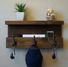 handmade coat racks modern rustic entryway coat rack shelf and mail phone key organizer handmade wood