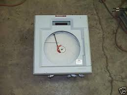 Foxboro Digital Circular Chart Recorder 740ra A3000acn On
