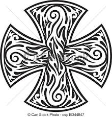 Kmenový Tattoo Kříž Cross