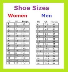 Euro American Shoe Online Charts Collection