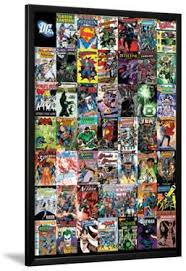 dc comics montage on marvel comics wall art plaque with dc comics posters for sale at allposters