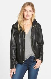 UPC 888856493753 - Cole Haan Leather Jacket with Diamond Quilting ... & ... Diamond Quilting | upcitemdb.com UPC 888856493753 product image for  Women's Cole Haan Knit Collar Lambskin Leather Bomber Jacket, ... Adamdwight.com