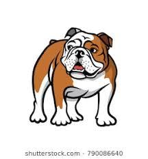 bulldog clipart. Delighful Clipart English Bulldog  Isolated Vector Illustration Intended Bulldog Clipart T
