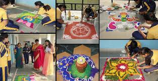 Rangoli Designs For School Competition Rangoli Competition And Food Carnival At Subodh Public