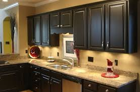 Painted Black Kitchen Cabinets Kitchen Paint Colors With Oak Cabinets And Stainless Steel Appliances