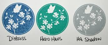 Hero Arts Shadow Ink Color Chart Dye Ink Comparison