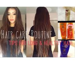 Hair Care Routine Tips For Growing Long And Healthy Hair Youtube
