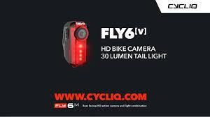 Bikemate Rear Light Camera Fly6 V Rear Facing Hd Bike Camera 30 Lumen Tail Light