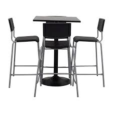 63 Off Ikea Ikea Black Counter Kitchen Table Set Tables