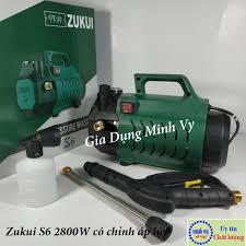 GIÁ TỐT] Máy rửa xe chỉnh áp Zukui S6 - 2800W - chỉnh áp phù hợp cả rửa xe  oto và vệ sinh điều hòa máy lạnh - tặng bình xà bông,