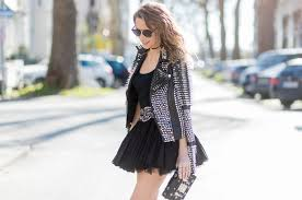 rock style studded leather jacket