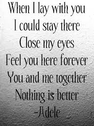 Love Lyrics Quotes Fascinating Love Lyrics Quotes Amazing Adele Love Lyrics Quotes Image 48 On