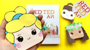 cinderella bookmark diy disney princess corner bookmark diys red ted art