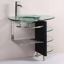 32-inch wall-mounted single chrome metal pedestal bathroom vanity ...
