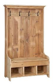 Hall Coat Rack With Storage Interesting Reclaimed Barn Wood Hall Tree Coat Rack With Cubby Storage Bench