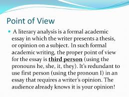 what is a third person essay person essay