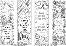 Free Bookmark Templates Template Bookmarks Template Printable Colouring With Quotes