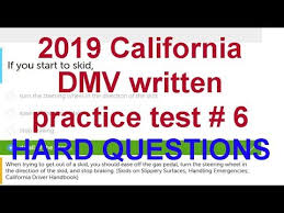 California Dmv Eye Chart 2019 California Dmv Written Test 6 Hard Questions California Dmv Written Test 2019