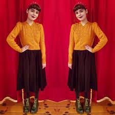 Emmy Design Clothing Mustard Peggy Sue Cardigan By Emmy Design At