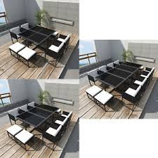 garden dining furniture rattan. image is loading poly-rattan-dining-table-chair-set-garden-furniture- garden dining furniture rattan