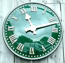 outdoor wall clocks with temperature and humidity clock large outside extra uk