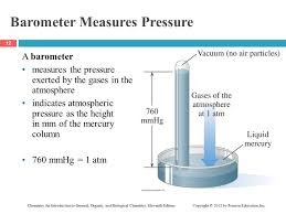 barometer chemistry. barometer measures pressure chemistry