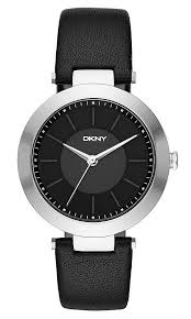 women s dkny stanhope black leather watch ny2465 loading zoom