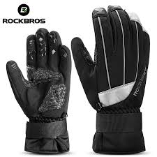 ROCKBROS Cycling <b>Winter Waterproof Touch Screen</b> Bike Gloves ...