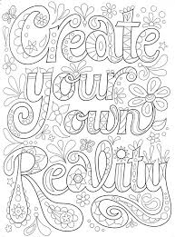 Coloring pages helps children to develop imagination and creativity. Pin On Quote Coloring Pages For Adults
