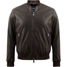 armani jeans er eco leather jacket with removable liner slim line 6y6b6 4eaaz brown