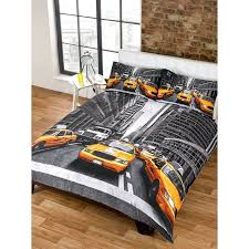 new york city bedding sets new yellow taxi double duvet set one cover and two with
