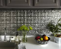silver backsplash ...