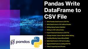 pandas write dataframe to csv file