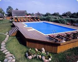 Image Backyard Awesomeabovegroundpools6 Specialty Pool Products 10 Awesome Above Ground Pool Deck Designs