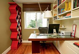 unique home office furniture. Alluring Wooden Laptop Office Desk With Unique Custom Built In Book Storage Cabinet Also Wall Shelves As Space Saving Modern Small Home Decors Furniture