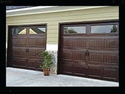 design wood stained garage doors door metal