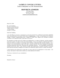 Social Work Cover Letter Examples Letters For Un Jobs Refrence