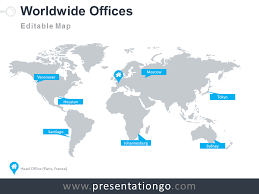 free editable maps world map the free powerpoint template library