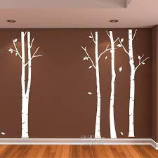 birch tree wall art sticker modern large decal decor diy family 15 diy
