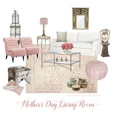 Edesign May E Design Floral And Pink Living Room
